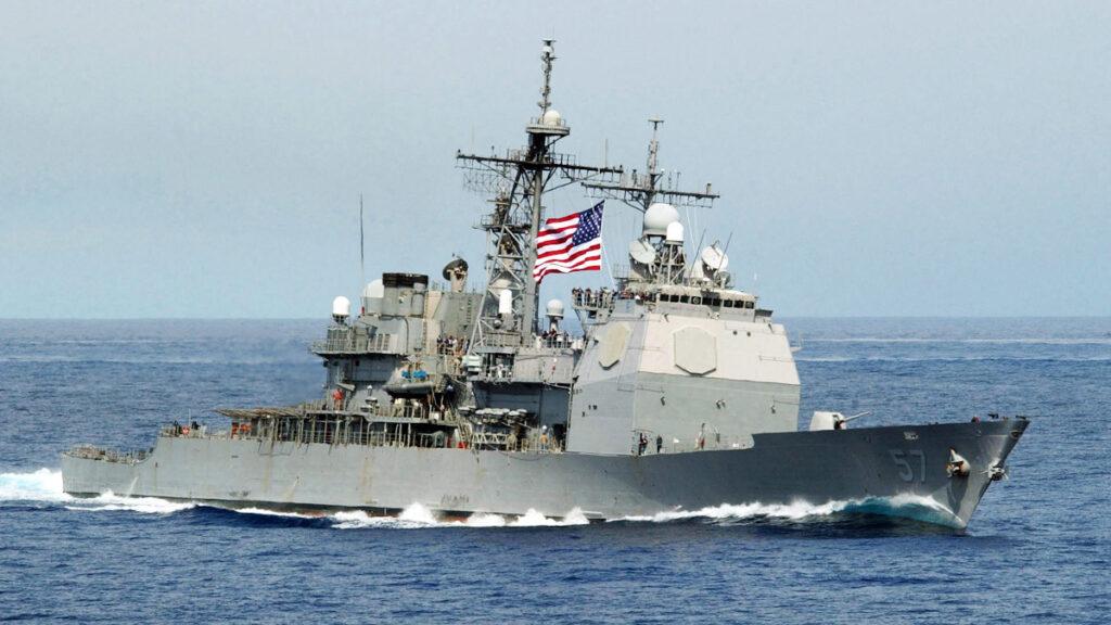 Αντιτορπιλικό (κλάσης Ticonderoga) USS Lake Champlain (CG 57) του Πολεμικού Ναυτικού των ΗΠΑ