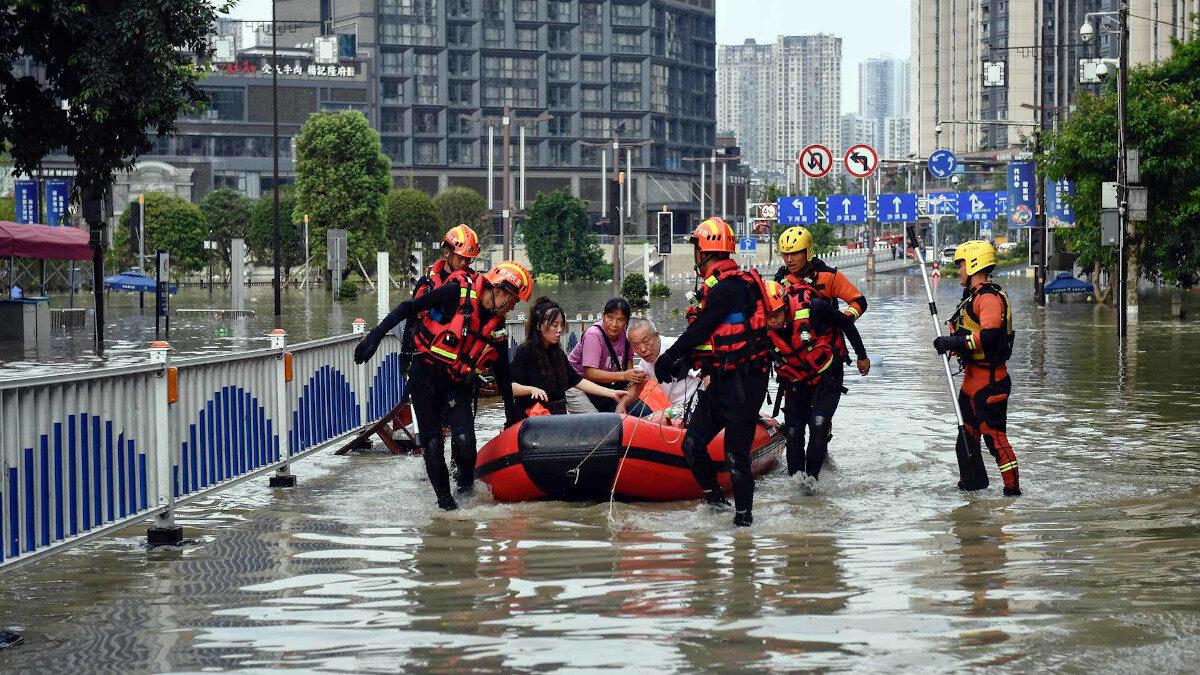 Πλημμύρες στην Βόρεια Κίνα