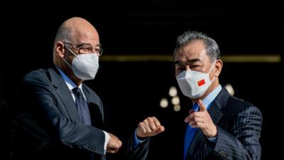 Συνάντηση του Υπουργού Εξωτερικών Νίκου Δένδια με τον Κινέζο ομόλογο του Wang Yi ,Τετάρτη 27 Οκτωβρίου 2021