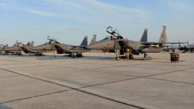 Αμερικανικά μαχητικά F-15 στην 110 Πμ στη Λάρισα