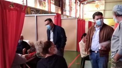 Περιοδεία του ΚΚΕ στο Αρκαλοχώρι με επικεφαλής, τον βουλευτή του ΚΚΕ, Μ. Συντυχάκη