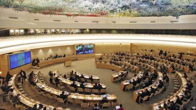 Αίθουσα Συνεδριάσεων του 47μελούς Συμβουλίου Ανθρωπίνων Δικαιωμάτων του Οργανισμού Ηνωμένων Εθνών στη Γενεύη, Ελβετία