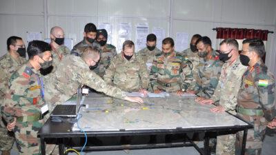 Yudh Abhyas: Συνεκπαίδευση του Αμερικανικού και Ινδικού Στρατού, Φλεβάρης 2021