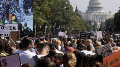 Από διαμαρτυρία στις ΗΠΑ ενάντια στον περιορισμό του δικαιώματος των αμβλώσεων
